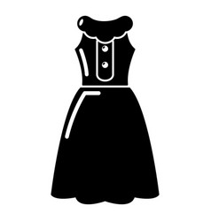 dress model icon simple black style vector image