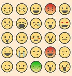 Emoticon Sets vector image vector image
