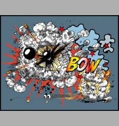 explosion vector image vector image