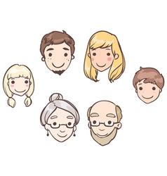 Family heads vector