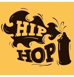 Hip Hop Label Design With A Spray Balloon vector image vector image
