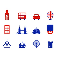 london icons vector image vector image