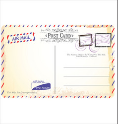 Postcard in air mail style vector