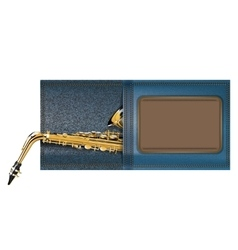 saxophone in a pocket of jeans vector image