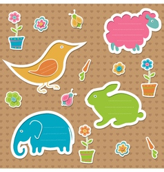 Text frames in the shape of animals vector image vector image