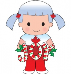 Canadian Christmas scene vector image vector image
