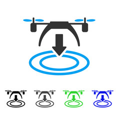 copter landing flat icon vector image vector image