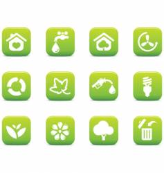 green icons environmental vector image vector image