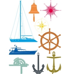 marine and yachting symbols vector image