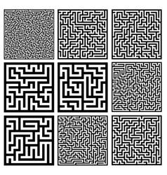 medium mazes set vector image