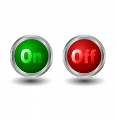power button vector image vector image