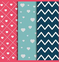 set of paper decoration love romantic pattern vector image
