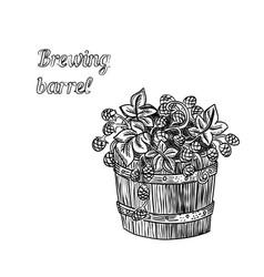 barrel of hop vector image vector image