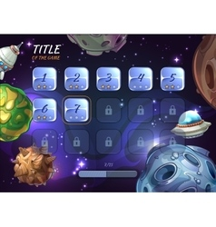 Cartoon space background for UI game vector image vector image