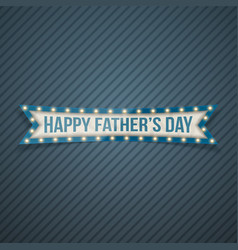 happy fathers day festive ribbon vector image vector image
