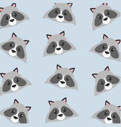 raccoon cartoon design vector image