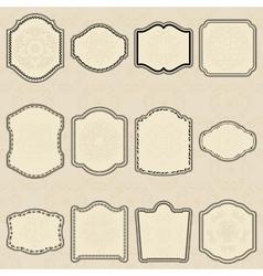 Set of design elements-vintage labels vector image