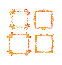 set vintage watercolor frames isolated on the vector image