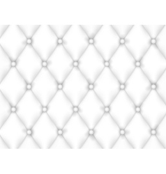 White Leather Upholstery Background vector image