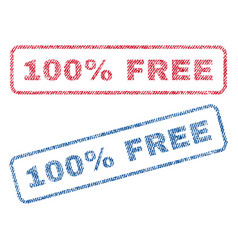 100 percent free textile stamps vector image