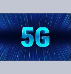 5g technology banner vector