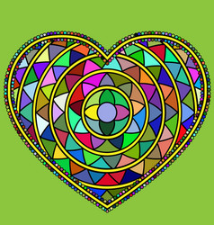Abstract many colored heart vector