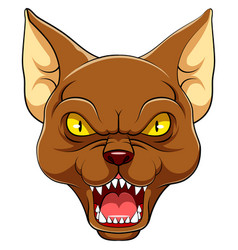 Angry oriental cat mascot vector