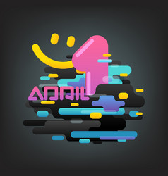 April fool concept abstract composition of vector