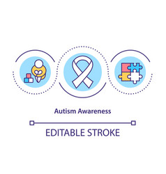 autism awareness concept icon vector image