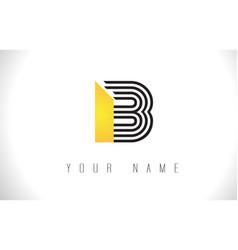 B black lines letter logo creative line letters vector