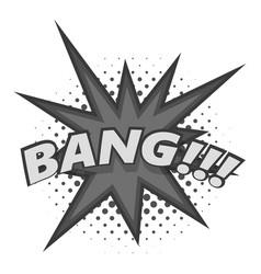 bang comic book explosion icon monochrome vector image