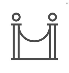 barricade stand theater icon design 48x48 vector image