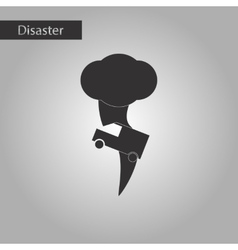 Black and white style icon tornado car vector