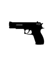 black silhouette gun on a white background vector image
