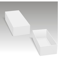 blank of opened cardboard box packing for gift vector image