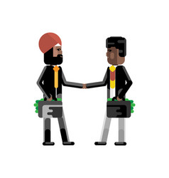 business meeting indian and african businessmen vector image
