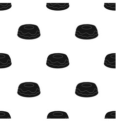 Cake icon in black style isolated on white vector