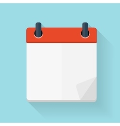 Calendar Flat Daily Icon Template vector image