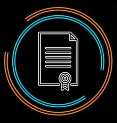 certificate creative icon element vector image