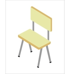 Chair in Isometric Projection vector image