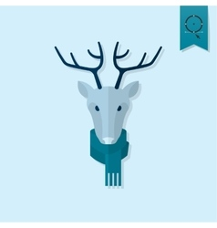 Christmas Reindeer Monochrome color vector image