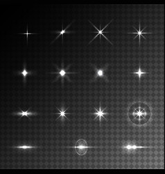Collection of light effects vector