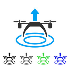 Copter start flat icon vector