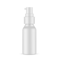 Cosmetic or medical bottle mockup isolated vector