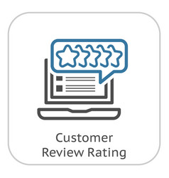 Customer review rating line icon vector