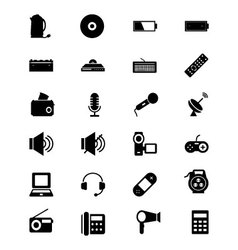 Electronics Solid Icons 3 vector image