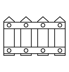 Fence icon outline style vector