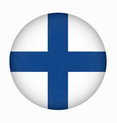 Flag finland into circle vector