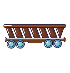 Freight car icon cartoon style vector
