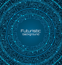 futuristic background digital template techno vector image